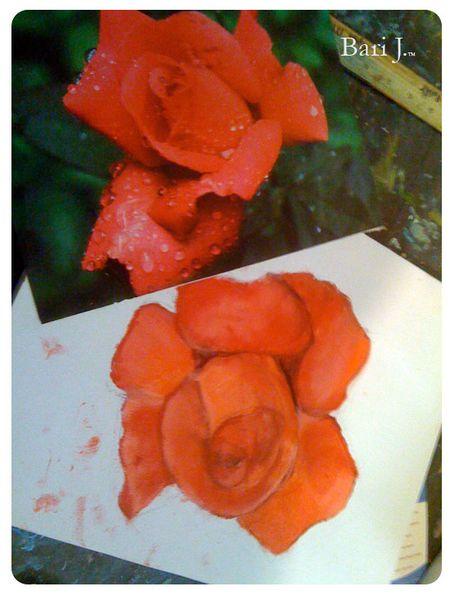 Rose_oilpainting