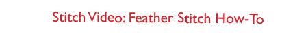 Featherstitch