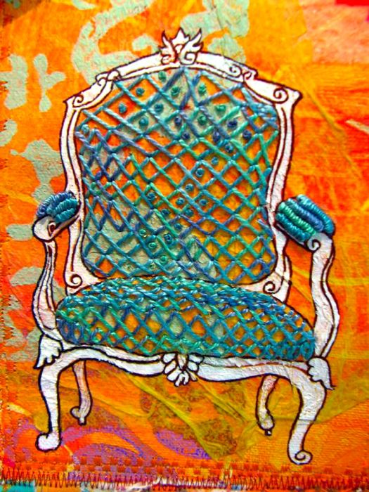Wonky cross chair