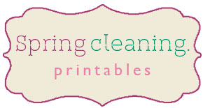 Springcleaningprintables