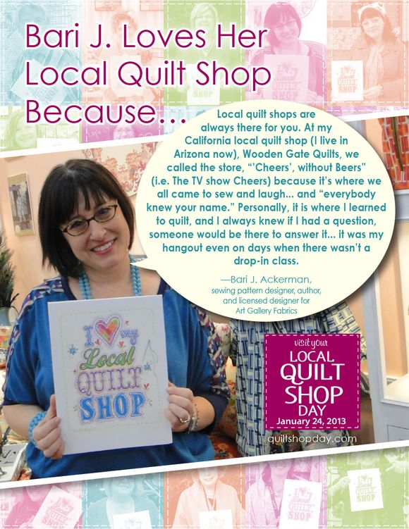 It's Visit Your Local Quilt Shop Day!