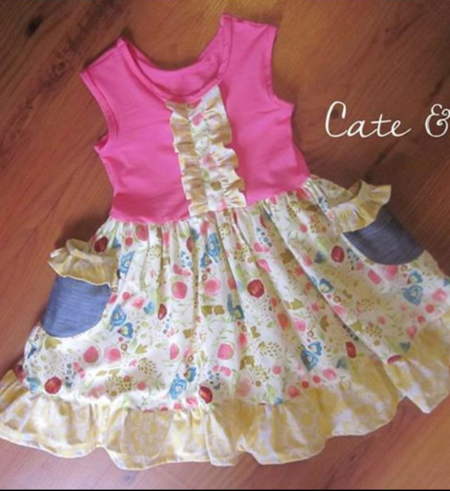 Emmy Grace fabric by Bari J. made by Cate and cruz