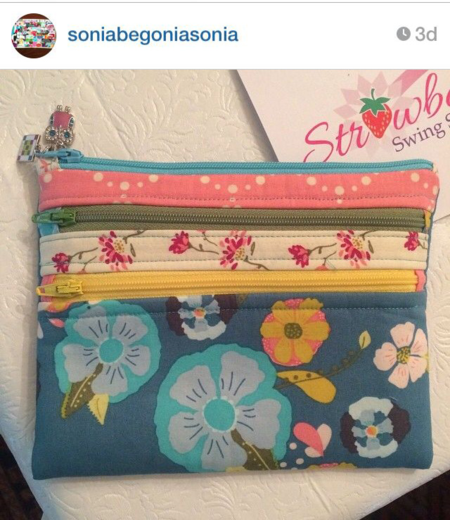Emmy Grace fabric by Bari J.  made by Strawberry Swing Studio for Sonia begonia