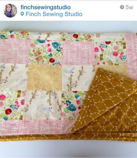 Emmy Grace fabric by Bari J.  Finch sewing studio