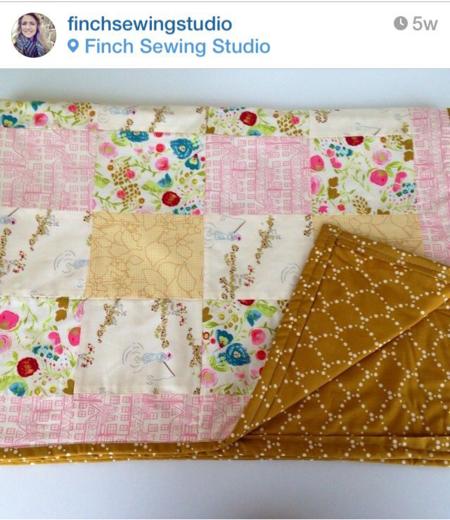 Emmy Grace fabric by Bari J.  Finch sewing studio