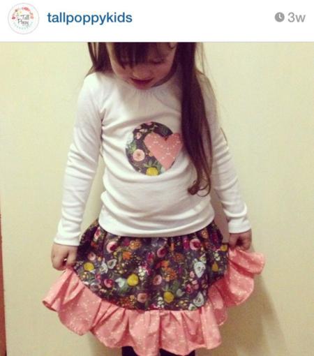 Emmy Grace fabric by Bari J. made by Tall poppy kids