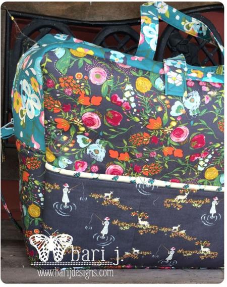 Holiday in London Duffle pattern  by Bari J. + Emmy Grace fabric by Bari J.