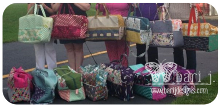 Holiday in London Duffle Bags by Bari J. at Camp Stitchalot